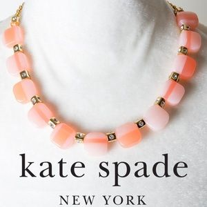KATE SPADE Blush Color Block Necklace Earring Set